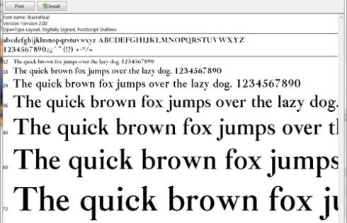 Download Free Fonts for Windows 7