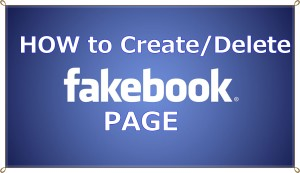 How to create/delete Pages on facebook