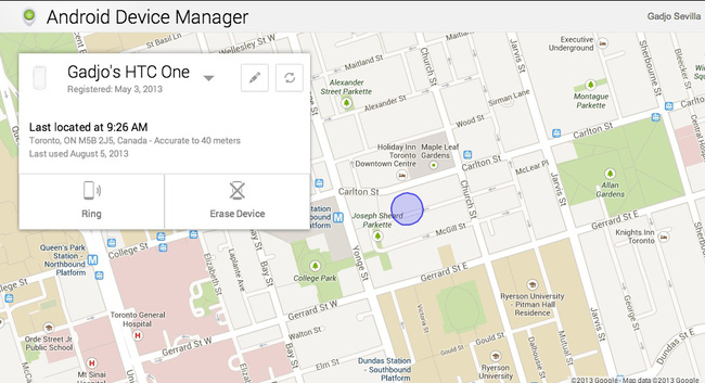 Locating Your Phone Via The Internet