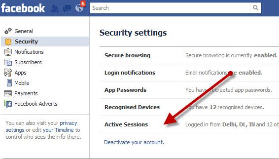 Deactivatre Facebook Account