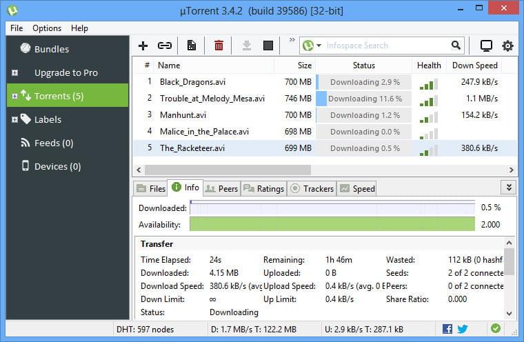 uTorrent for Windows PC