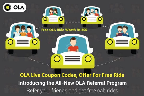 OLA Cabs Referral Coupon Code for New User