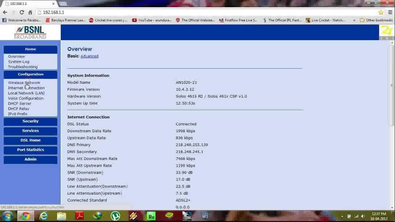 Reset BSNL Broadband wifi Password