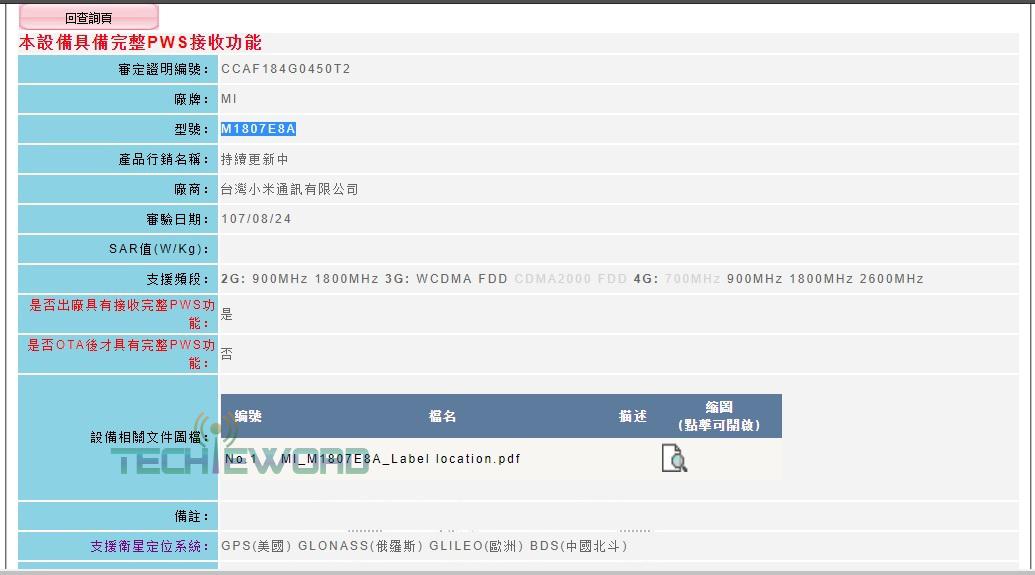 Xiaomi Mi Note 4 is now NCC certified